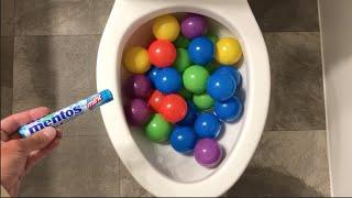 Will it Flush? - Plastic Balls and Mentos