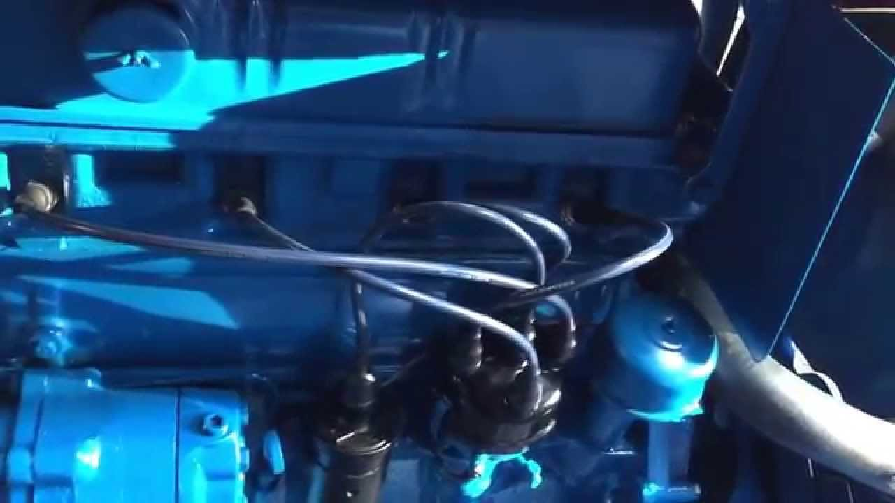 Ford Tractor 4 Cyl Gasoline Engine Running