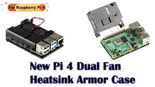 Raspberry Pi 4 Dual Cooling Fan Aluminum Alloy Case