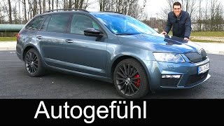 2016 Skoda Octavia vRS Combi Estate FULL REVIEW test driven DSG & TDI 184 hp