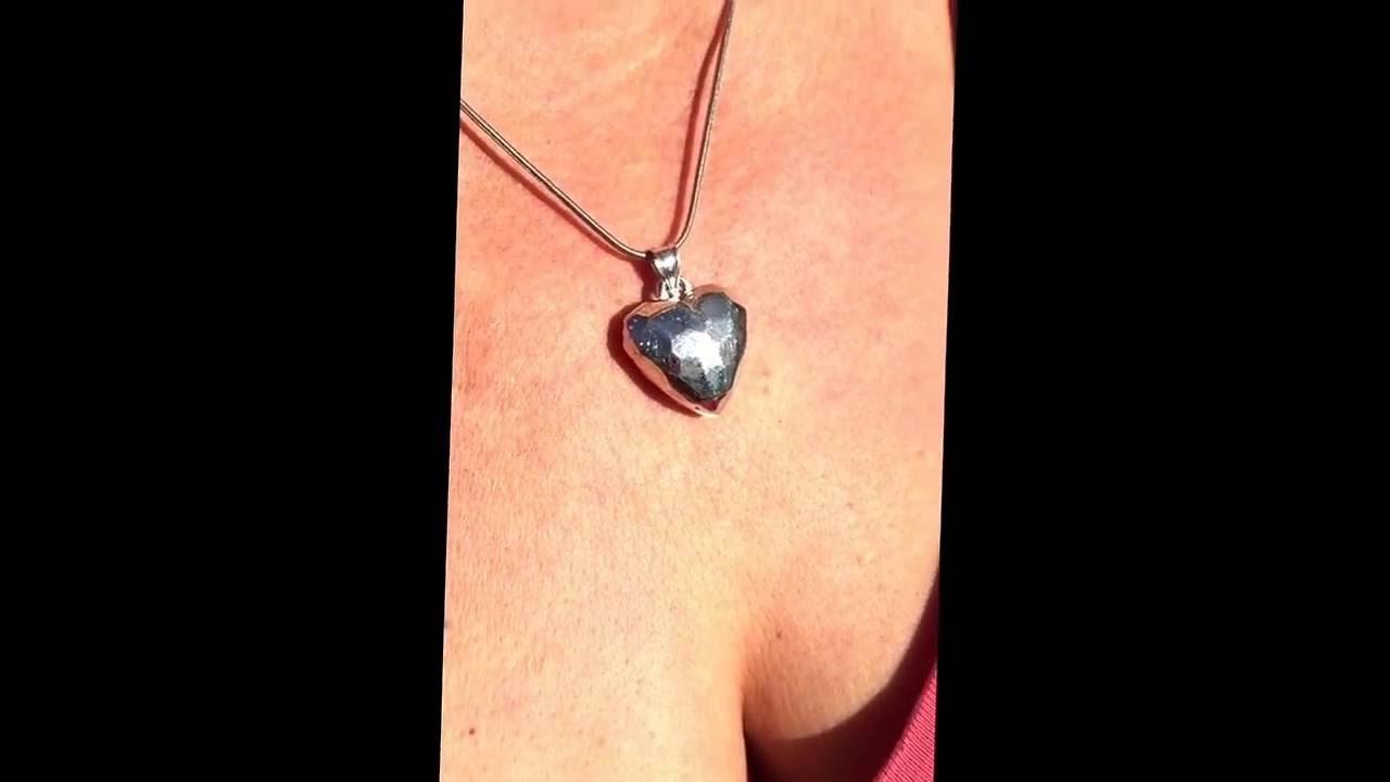 Emf radiation protection jewelry silver heart pendent with silver emf radiation protection jewelry silver heart pendent with silver chain crystal staffed harmonizer vortex bioshield aloadofball Choice Image