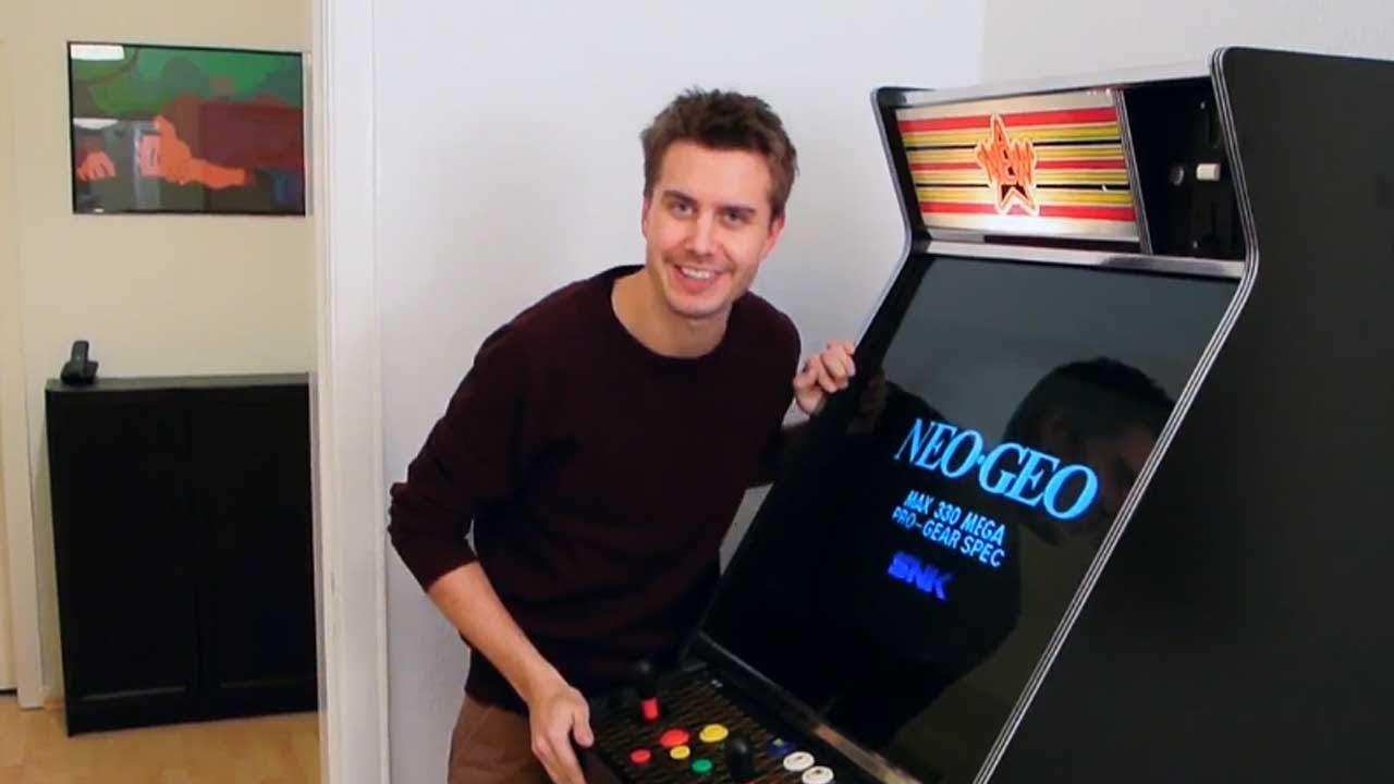 JAMMA Arcade Cabinet mit NEO GEO Platine - MarcTV.de - YouTube