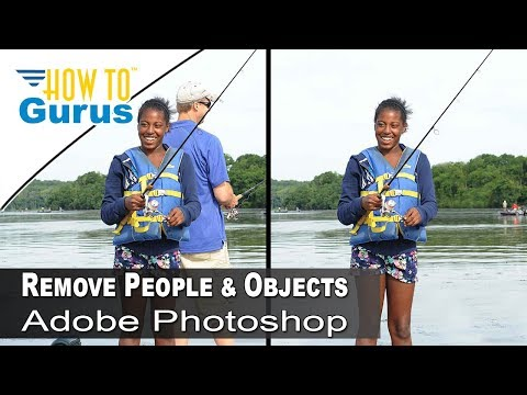 How To Remove People And Objects With Adobe Photoshop From A Photo, CS5 CS6 CC 2019 Tutorial