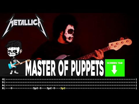 Metallica - Master Of Puppets (Bass Cover by Cesar Dotti W/Tab)