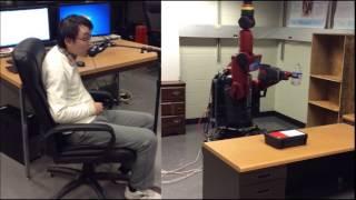 Remote end-effector control of a highly redundant mobile manipulator by quadriplegic user
