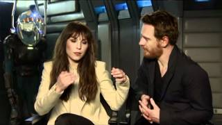 prometheus interviews ridley scott noomi rapace michael fassbender charlize theron guy pearce