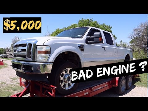 $5,000 2010 Ford F350 - 6 4L Powerstroke! Auction BUY! BAD ENGINE?