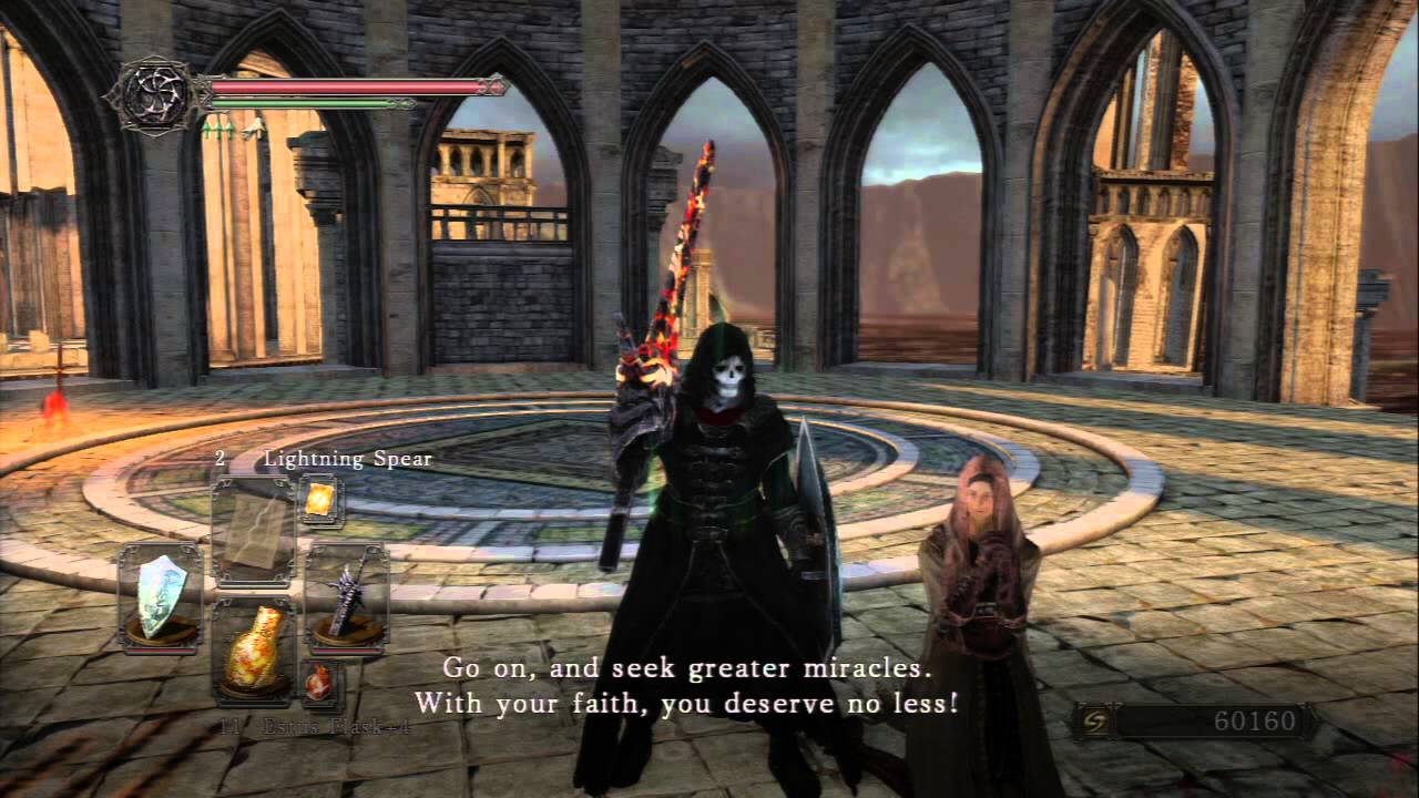 Dark Souls II NG+ - Heide's Tower of Flame Licia of Lindeldt Intro ...