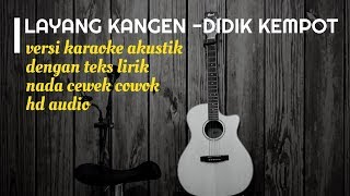 Download Mp3 Layang Kangen Didi Kempot - Versi Karaoke Gitar Akustik - No Vocal Nada Cewek Co