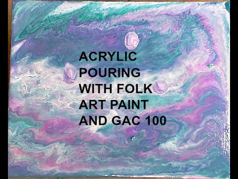 Acrylic Pouring with Folk Art Paint - LIVESTREAM REPLAY
