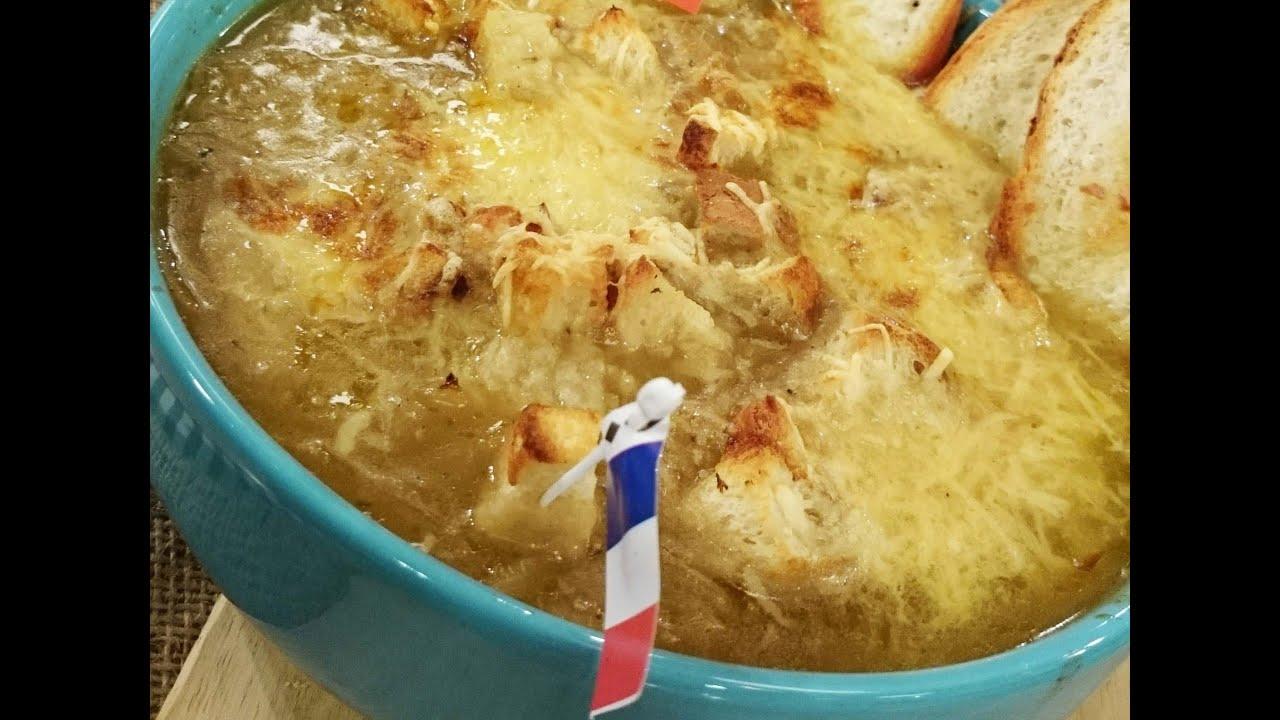 Sopa de cebolla a la francesa