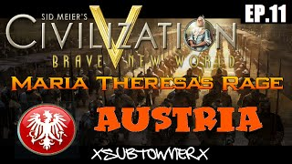 Civ 5 - Austria Gameplay [P11] - The Chess Match With Sweden
