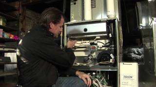 Oil Furnace Replaced With High Efficiency Heat Pump, Gas Furnace and Air Conditioning System