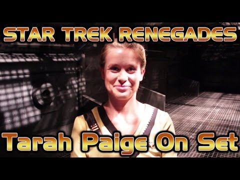 Tarah Paige On Set - Star Trek Renegades