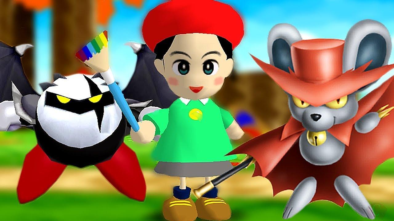 Kirby Vs Adeleine Dark Meta Knight & Daroach Battle (Future DLC Characters for Kirby Star Allies)