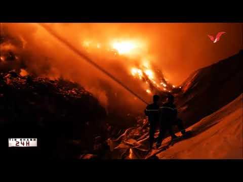 Tin nhanh 24h-  Bà Rịa Vũng Tàu, Cháy lớn tại bãi rác Tóc Tiên