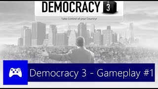 Democracy 3 - Gameplay #1 - Português