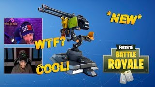 Streamers REACTS to NEW TURRET! *EPIC* | Fortnite FUNNY Moments & HIHGLIGHTS