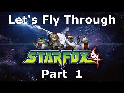 Star Fox 64 Fly Through -1- Good luck!