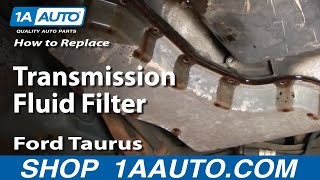 How To Service Transmission Fluid Filter Ford Taurus V6 00-07 - 1AAuto.com(, 2010-11-20T00:07:55.000Z)