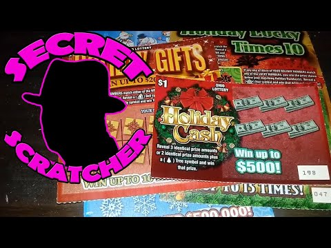 BAH HUMBUG!!!!! NEW Christmas Scratch Off Tickets from the Ohio Lottery.