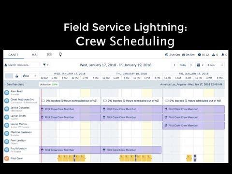 Crew Scheduling - Field Service Lightning
