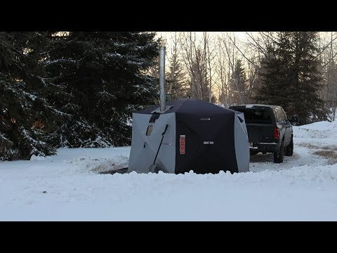 8 Weeks Winter Camping In Tent - First Night