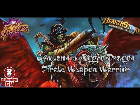 HEARTHSTONE ★ C4MLANN'S AGGRO DRAGON PIRATE WEAPON WARRIOR ★ WOTOG ★ LETS PLAY [GERMAN HD]