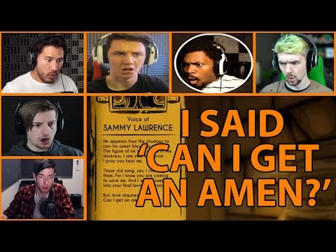 Let's Players Reaction To Sammy Saying 'Can I Get An Amen' | BATIM Chapter 2