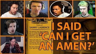 In this video, you will see some of the reactions to let's players hearing sammy lawrence say 'i said can i get an amen?' bendy and ink machine chapte...