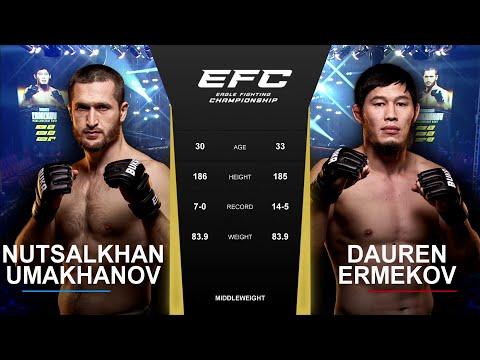 Дрался с жёлтой карточкой | EFC 42: Даурен Эрмеков - Нуцалхан Умаханов