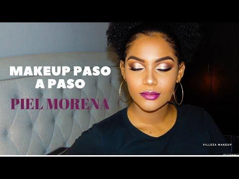 Maquillaje De NOCHE Piel Morena, Negra, Trigueña   Paso A Paso // Villeza Makeup