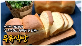 홈베이킹 우유식빵 만들기 | 촉촉하고 부드러운 우유식빵…