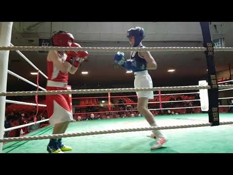Ryan Gill in  the Irish national boxing stadium....