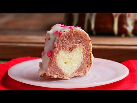 How to Make a Hidden Heart Strawberry Bundt Cake • Tasty