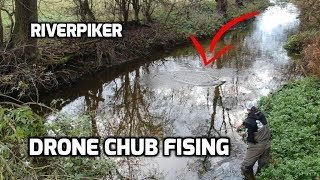 Chub fishing drone footage - (Video 227)