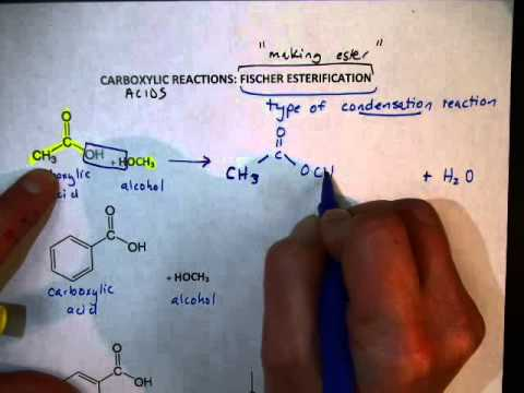 VIDEO Carboxylic Acid Reactions Ester Formation)