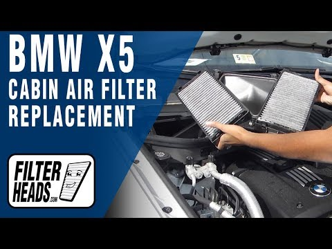 How To Replace Cabin Air Filter Bmw X5 Youtube
