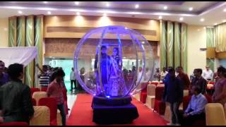 Crystal ball entry for bride and groom Navneet thakur wedding planner 9820758070