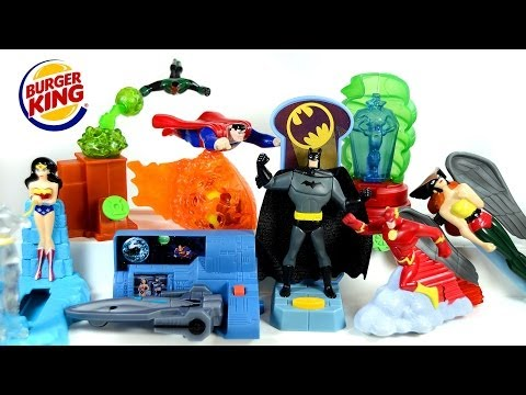 Justice League Burger King 2003 Toys Complete Set Superman Batman Wonder Woman