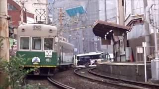 早朝の京福電鉄(嵐電) 平成28年10月13日