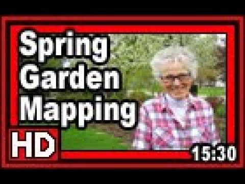 Spring Garden Mapping - Wisconsin Garden Video Blog 826