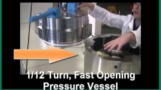 Quick Open/Close End Caps for High Pressure Vessels