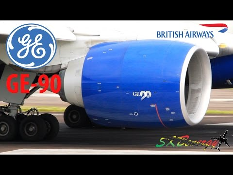 GE-90 !!!!! it never gets old - British Airways 777-200 departing St. Kitts for Antigua