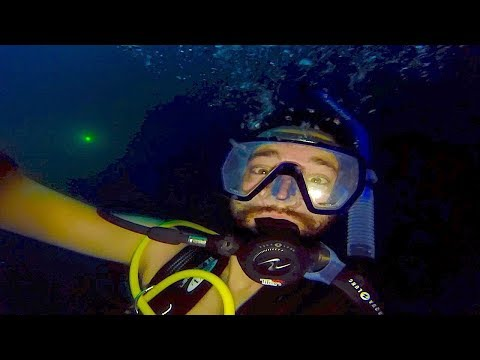 SCUBA DIVING AT THE BOTTOM OF CRATER HOT SPRINGS!