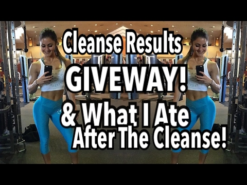 Juice Cleanse Results | GIVEAWAY! | Grocery Haul & What I Ate After The Cleanse!