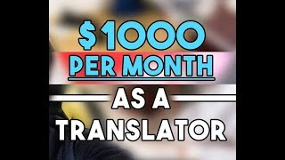 Online translation jobs for students - make up to $100 an hour