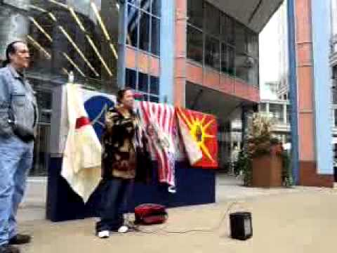 Mpls IdleNoMore protest Oct 21 Canadian Consulate after RCMP attacks Indigenous blockade