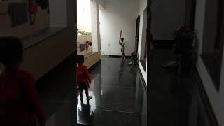 Mokshu and Vishu playing cricket(3)