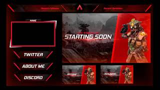 Apex Stream Graphics Pack | Free PSD | Overlay | Webcam | Banners